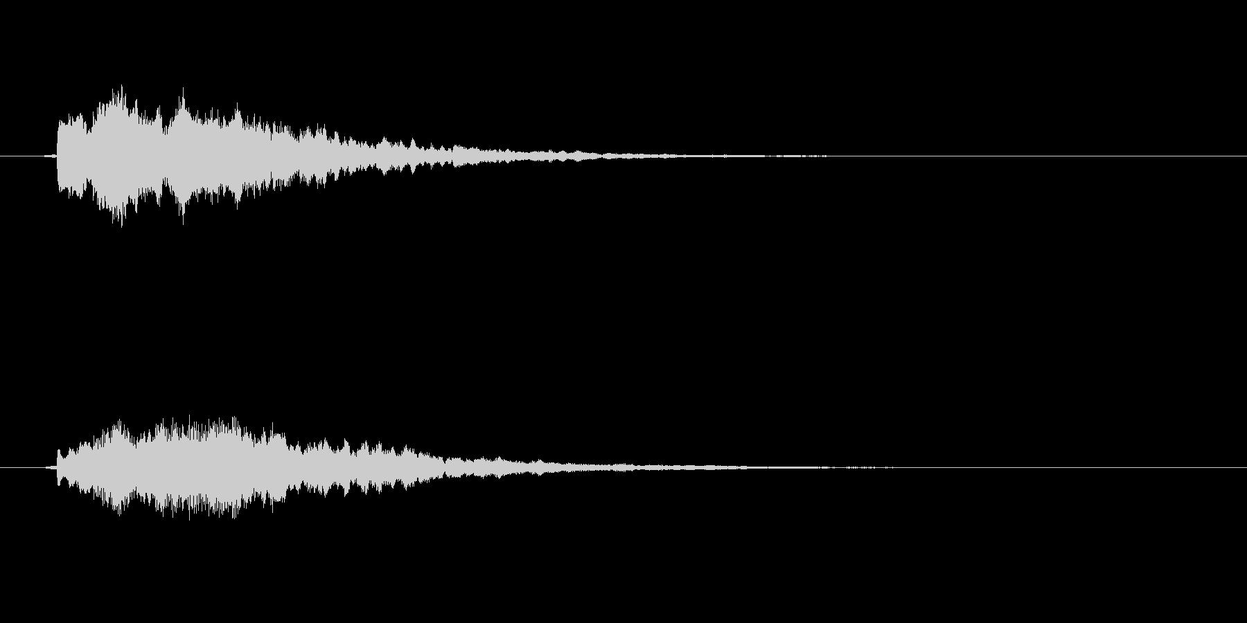 不思議なものが出現する時の音の未再生の波形