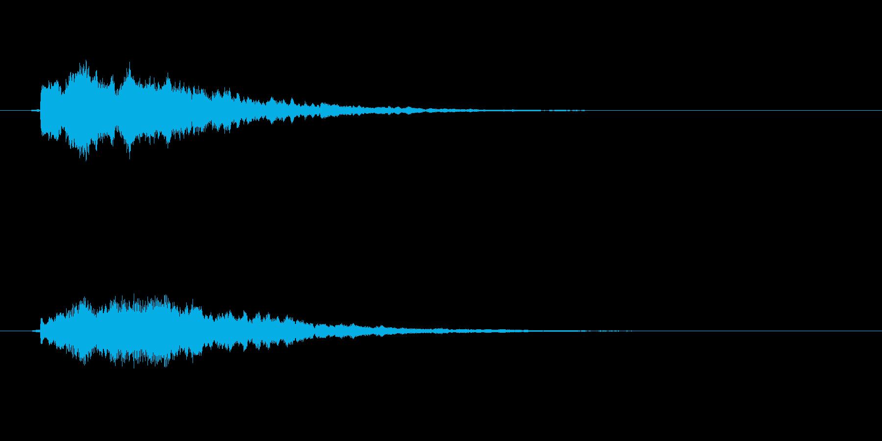 不思議なものが出現する時の音の再生済みの波形