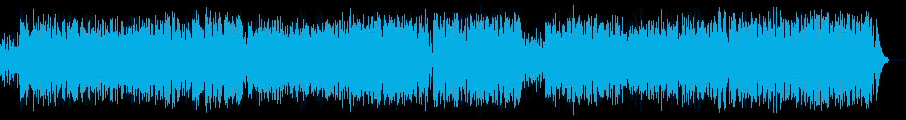 青い海、砂浜、エレキ・サーフミュージックの再生済みの波形