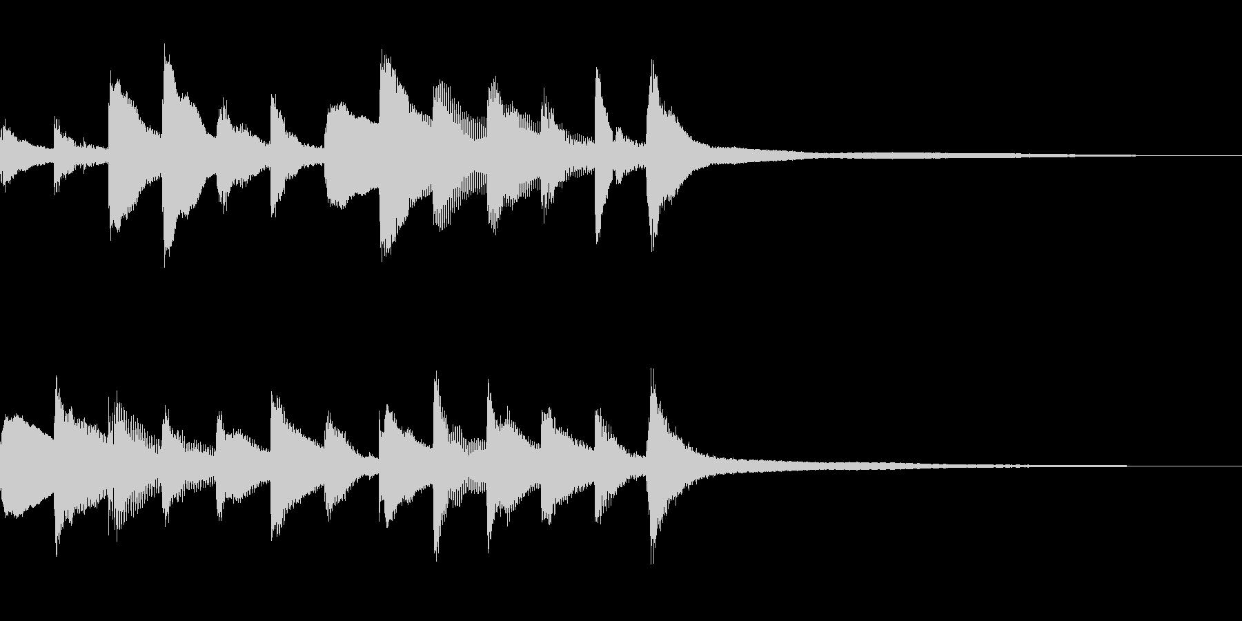 ピアノを使ったシンプルなサウンドロゴの未再生の波形