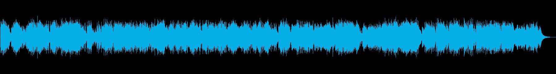 穏やかなピアノソロの再生済みの波形
