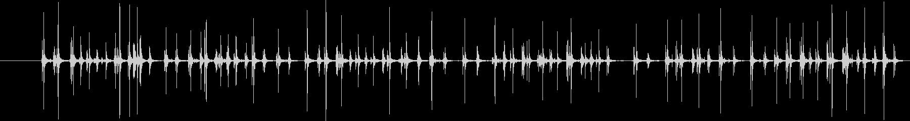 コンピューターのキーボード:長い入...の未再生の波形