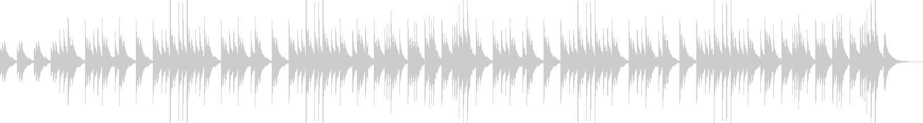 透明な音色が優しいクリスタルバラードの未再生の波形