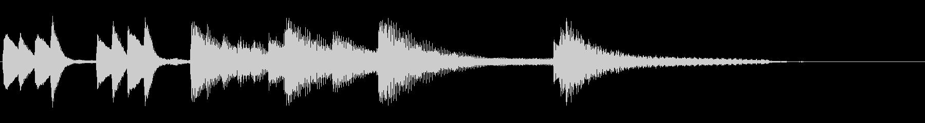 軽やかで優しいピアノのジングルの未再生の波形