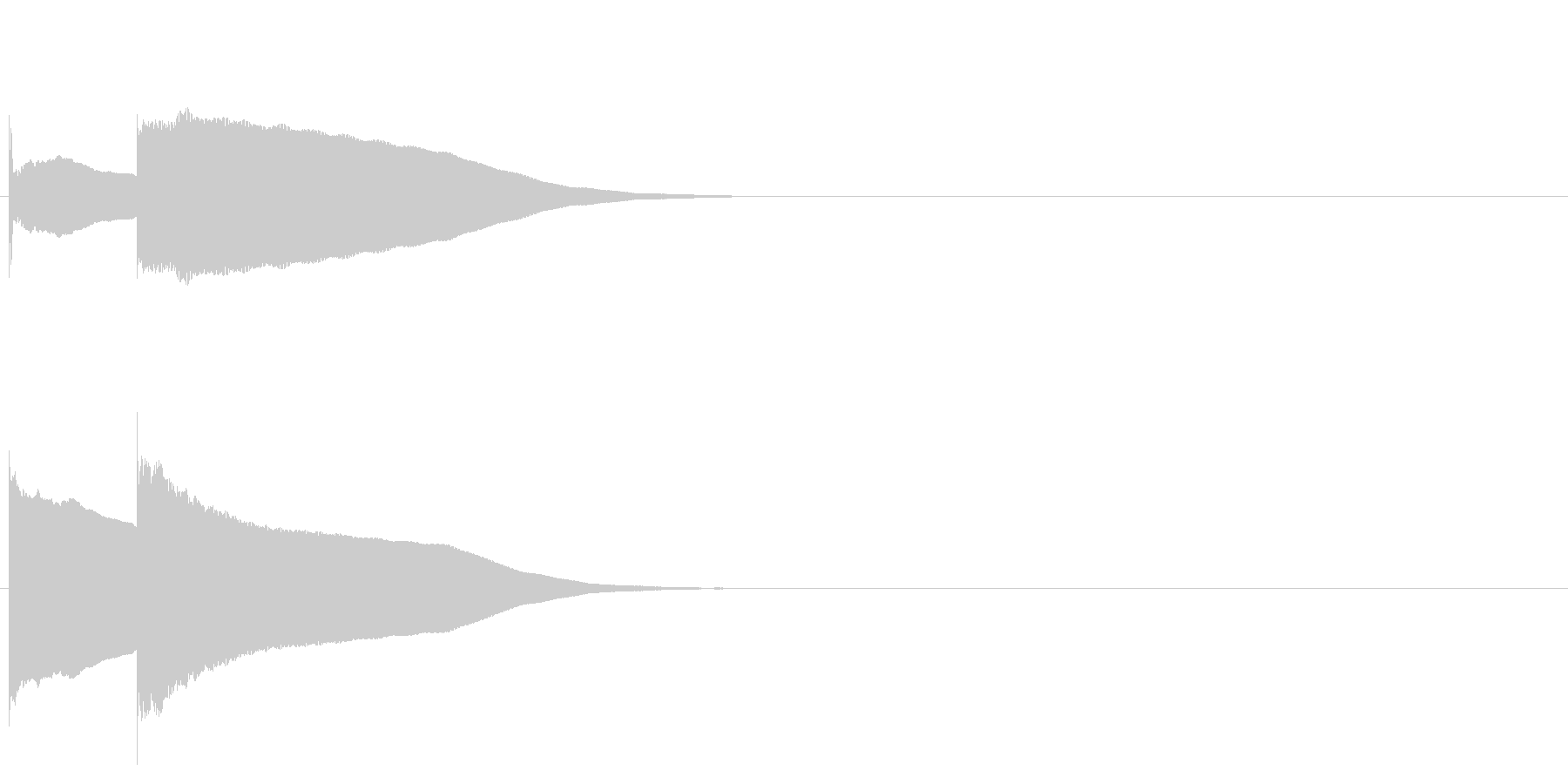 グロッケン系 決定音05(小)の未再生の波形