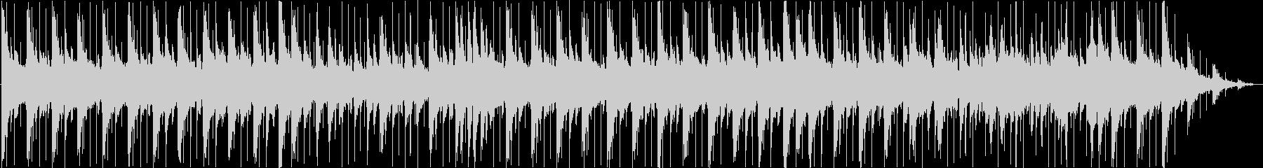 雨降りの憂鬱なバラード曲/ピアノの未再生の波形