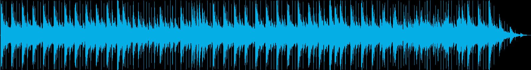 雨降りの憂鬱なバラード曲/ピアノの再生済みの波形
