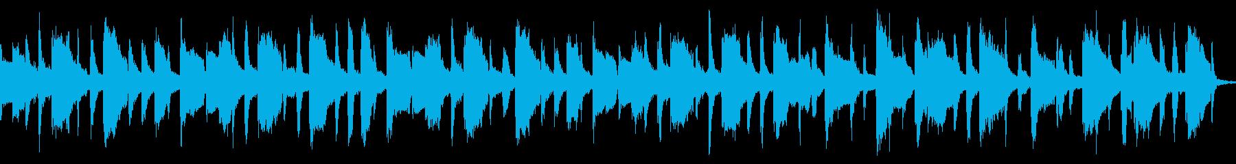 子供向けアニメ風の和やかなBGM:ループの再生済みの波形