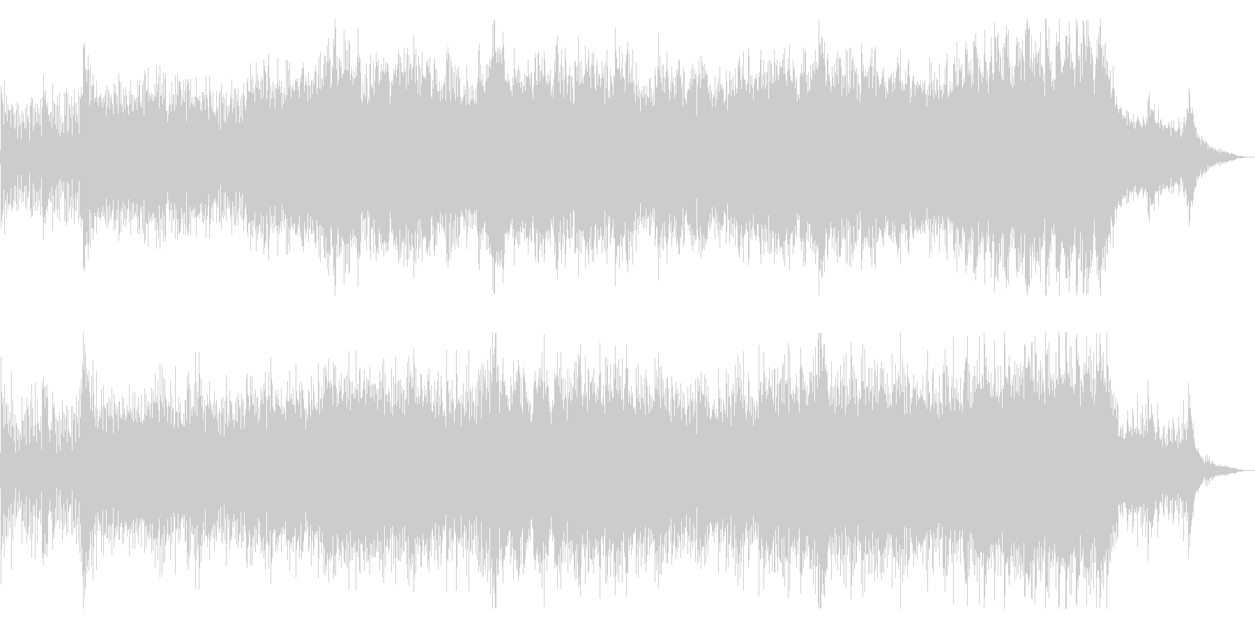 オーケストラによるドラマチックサウンドの未再生の波形