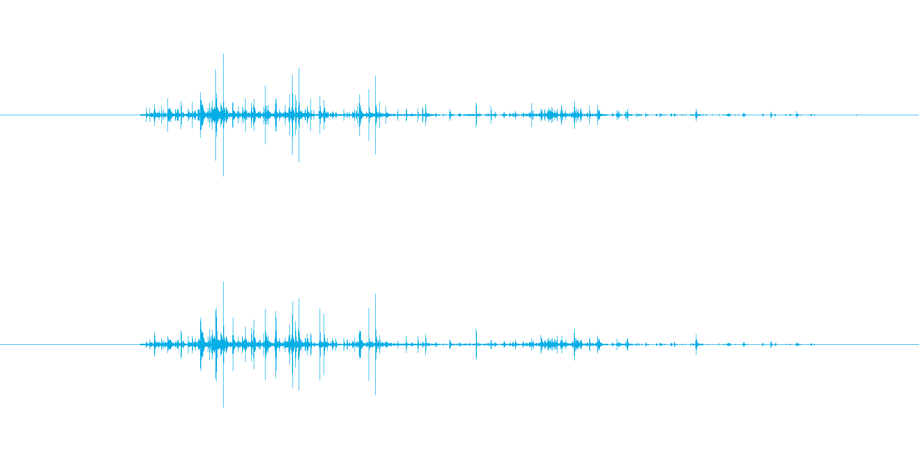 【生音】触れる・ナイロン - 1 「が…の再生済みの波形