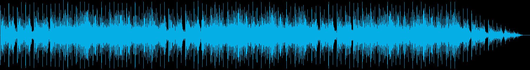 琴を使った和風ゲームのタイトル画面曲の再生済みの波形