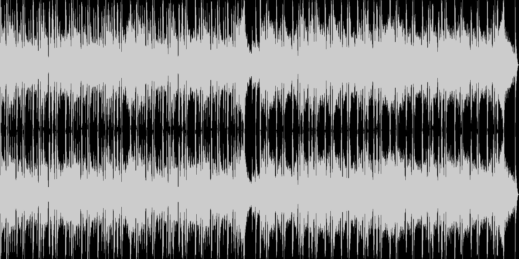 和のテイストを盛り込んだループBGMの未再生の波形