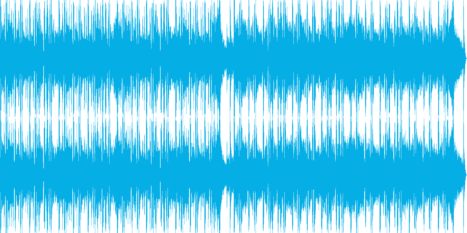 和のテイストを盛り込んだループBGMの再生済みの波形