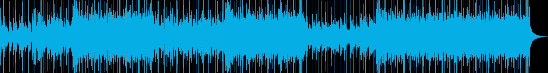 ポジティブなライトロックトラックの再生済みの波形