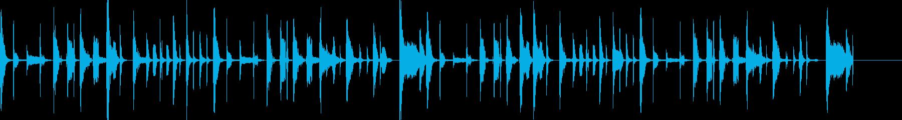 コミカル・脱力系のBGM  ボイパ等の再生済みの波形