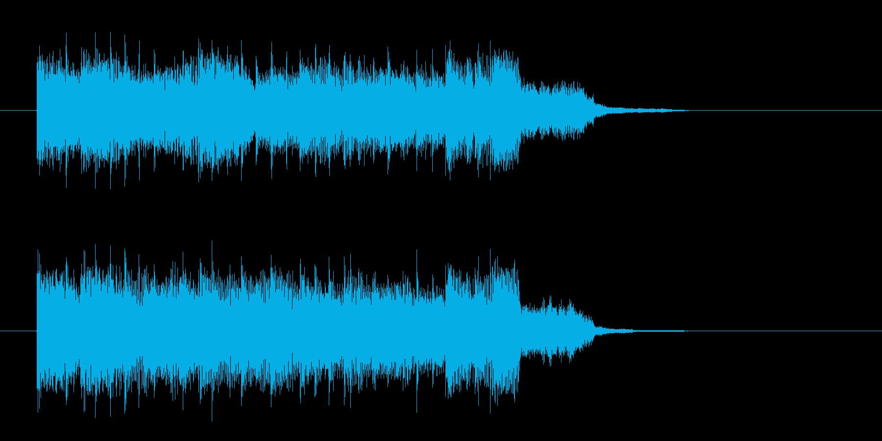 ノリの良いギターロックの再生済みの波形