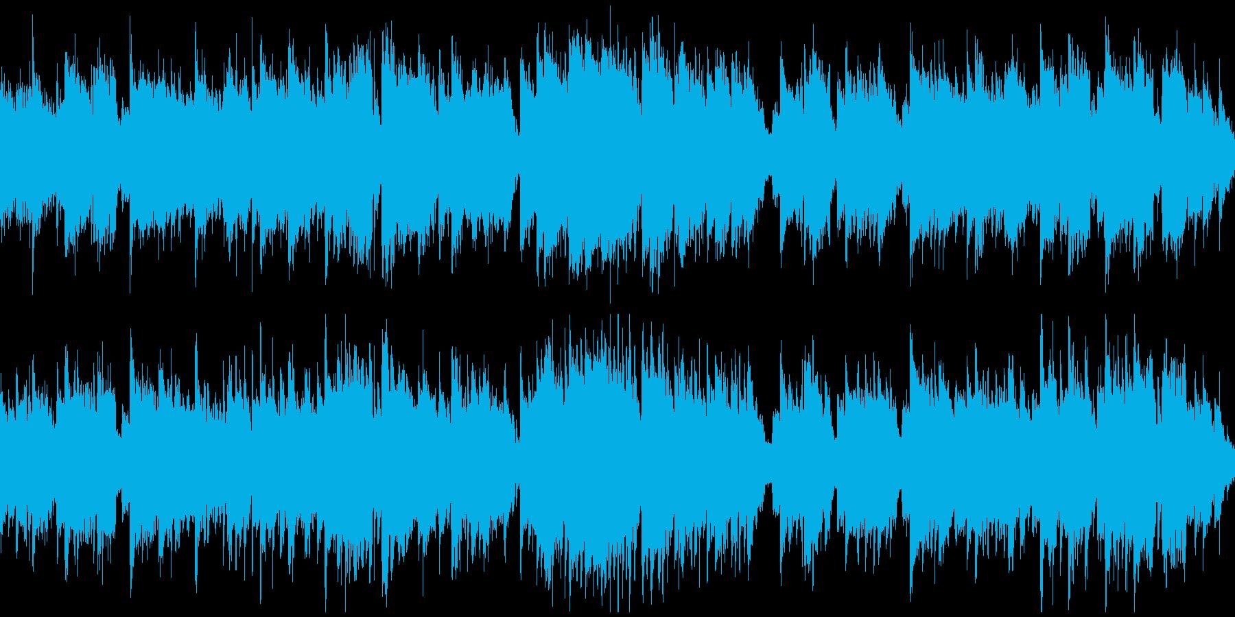 短調の和風曲、壮大、ゆっくり ※ループ版の再生済みの波形