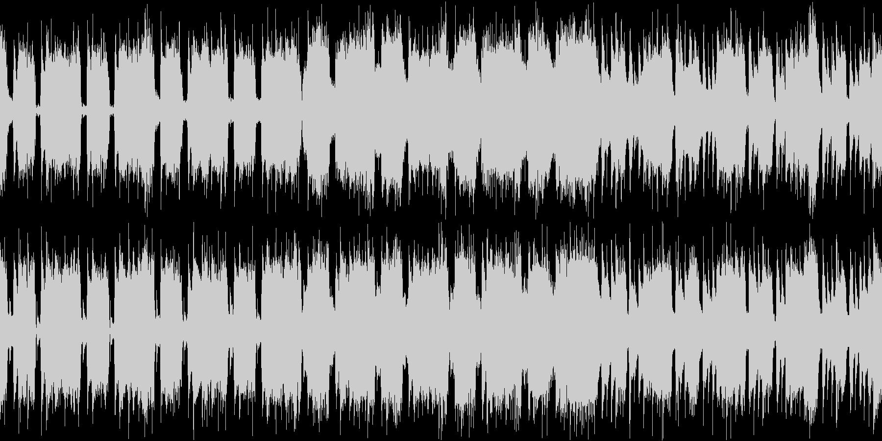 怒りや混沌を表現したハードロックの未再生の波形