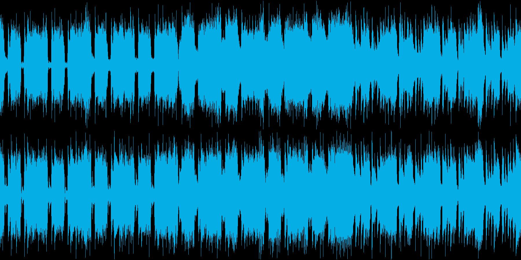 怒りや混沌を表現したハードロックの再生済みの波形