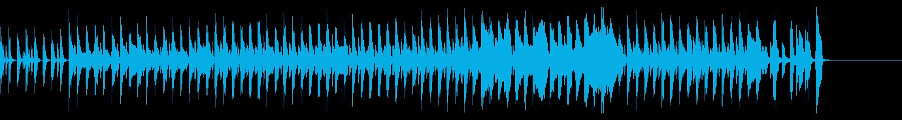 マーチ感のあるドラムと木琴の行進曲の再生済みの波形