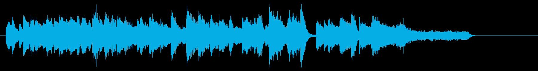 明るく元気なジャズピアノジングル10 の再生済みの波形