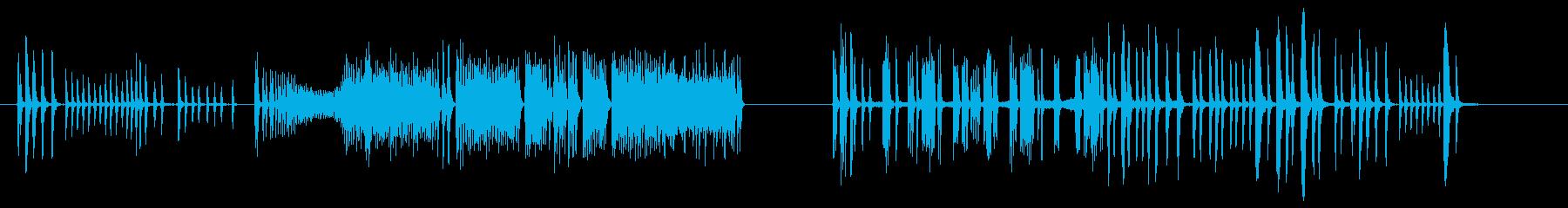 コメディチューブスパッタリングの再生済みの波形