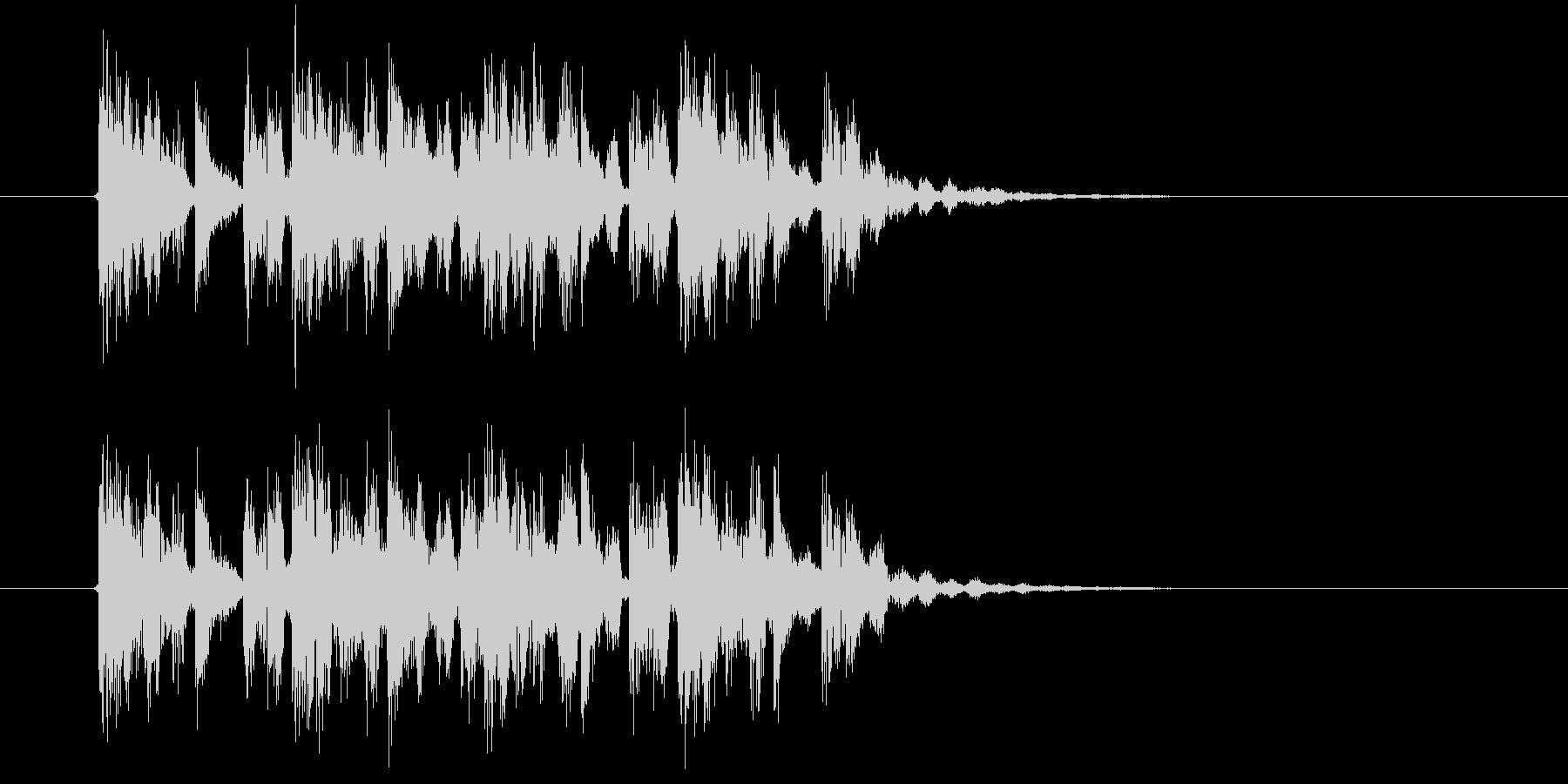 アップテンポなテクノポップスの未再生の波形