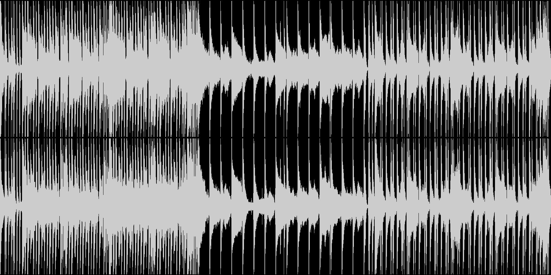 エンタメショー風ヒップホップループの未再生の波形