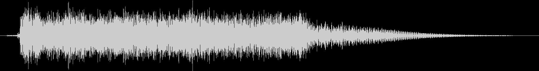 エレキギター:ピックスライドの未再生の波形