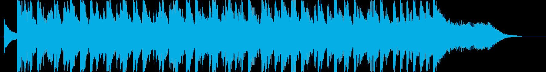 ニュース番組のオープニング風の再生済みの波形
