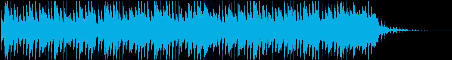サックスのラジオジングルの再生済みの波形