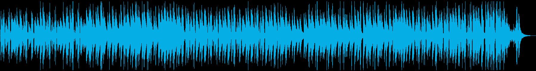 ウクレレのシンプルなほのぼの曲の再生済みの波形