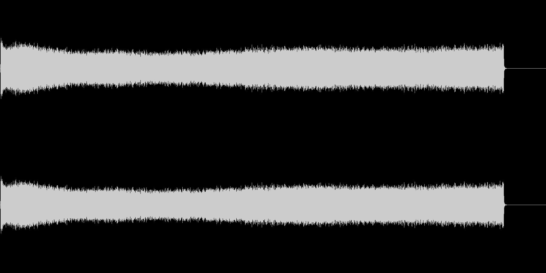 コンプレッサーからの長い空気の爆発の未再生の波形