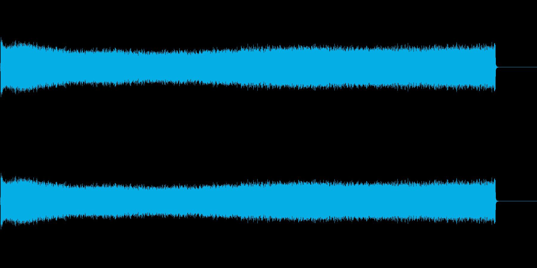 コンプレッサーからの長い空気の爆発の再生済みの波形