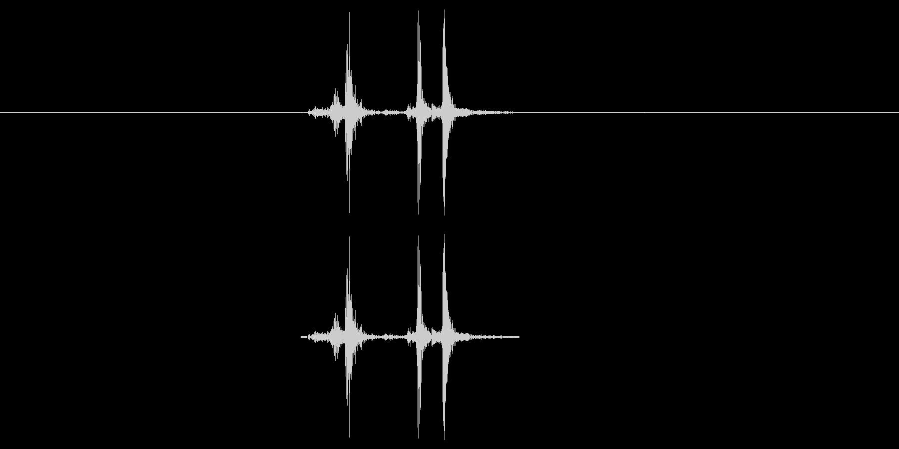 カシャッ(カメラ、写真撮影)の未再生の波形