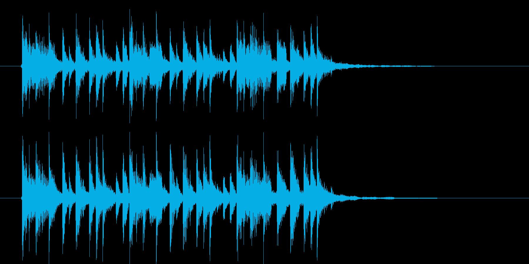 わくわくする勢いのある短めのジングルの再生済みの波形