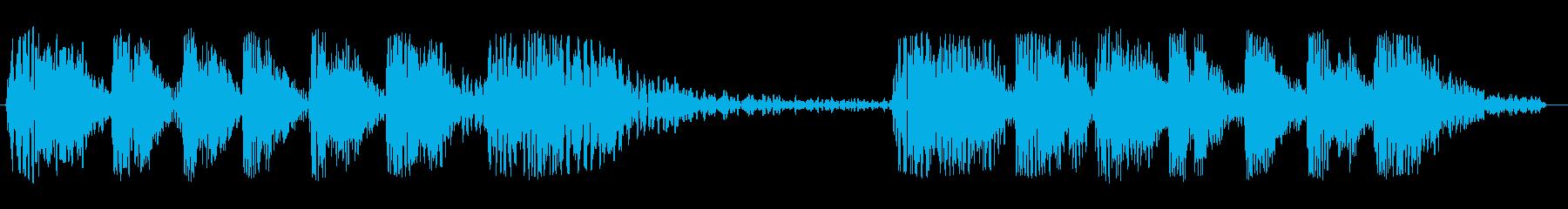 グワングワン・・・グワングワン(伸縮)の再生済みの波形