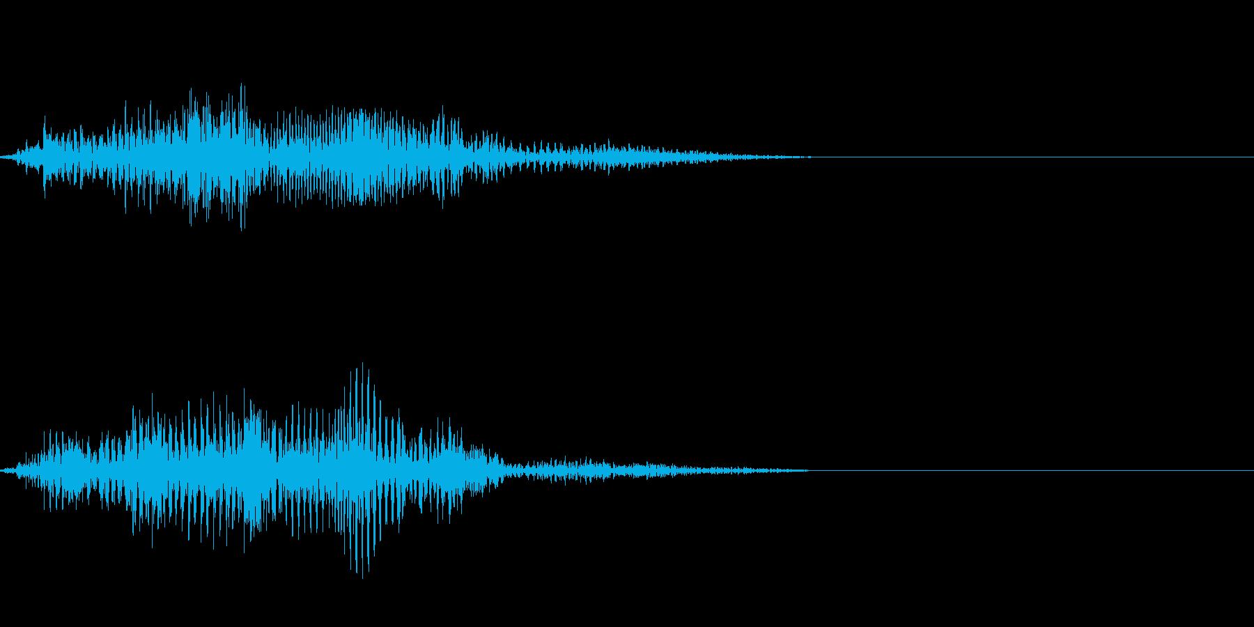 エイリアンの発声などに 2の再生済みの波形