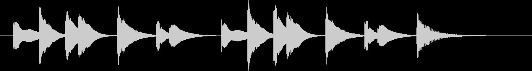 アニメ系ジングル_ほのぼの02の未再生の波形