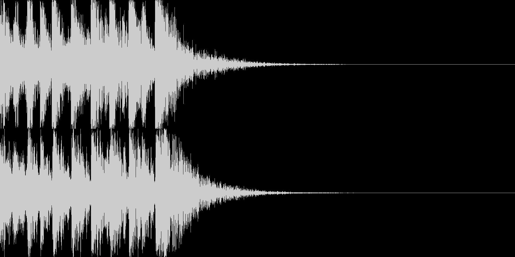 鼓(つづみ)太鼓のフレーズ ジングル03の未再生の波形