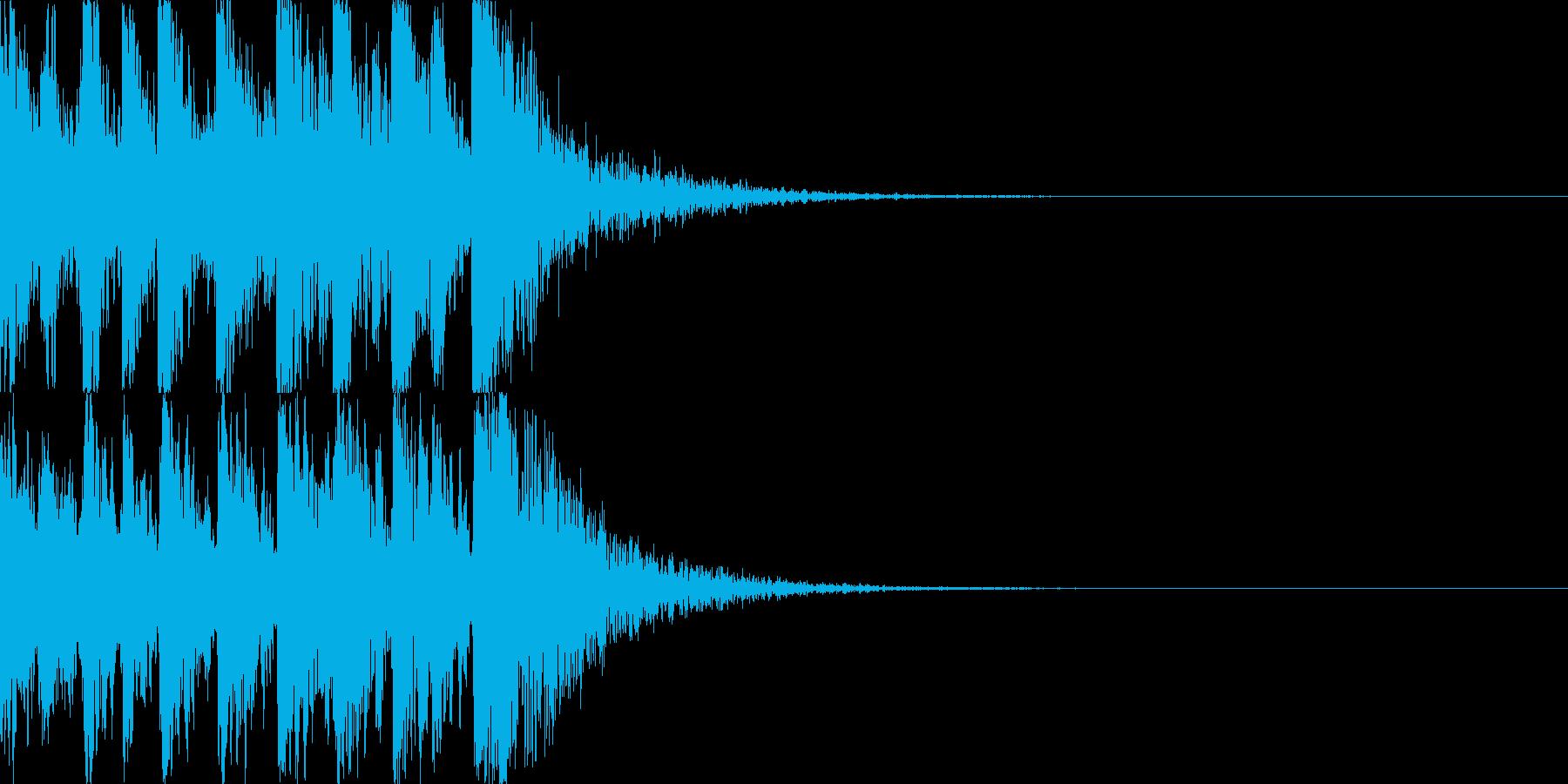 鼓(つづみ)太鼓のフレーズ ジングル03の再生済みの波形