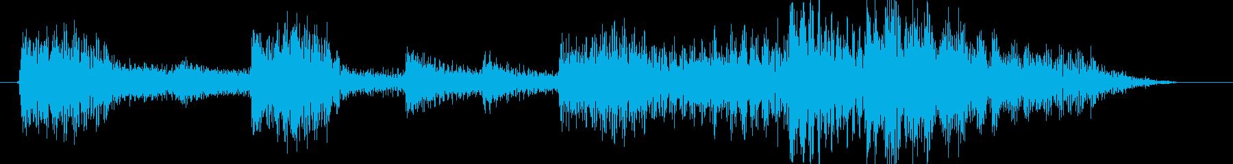 琴尺八勢いのある戦国風ジングルの再生済みの波形