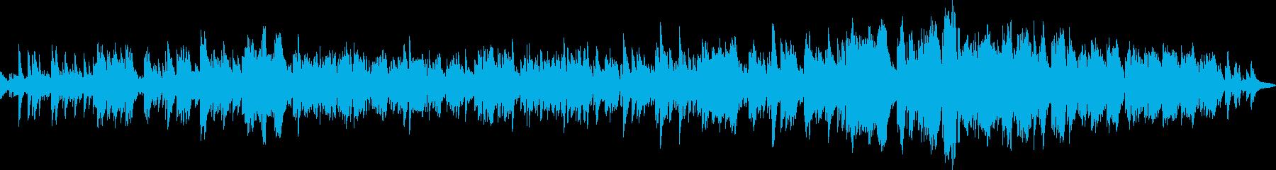 ライトミュージックでリラクゼーションな曲の再生済みの波形