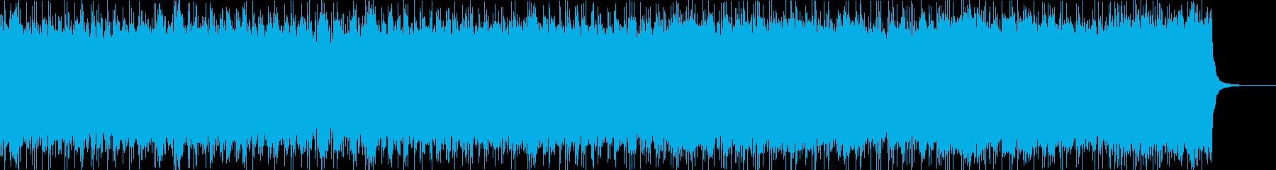 スリリングでドラマティックな戦闘曲の再生済みの波形