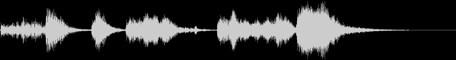 ハロウィン系ジングル1の未再生の波形