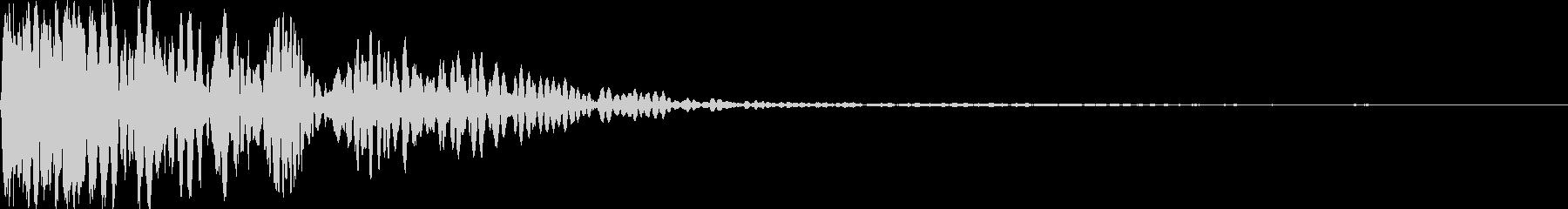 ボタン押下音(ドチュン!)の未再生の波形