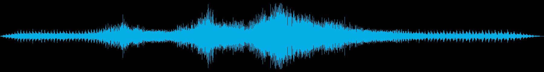 車の回転の再生済みの波形