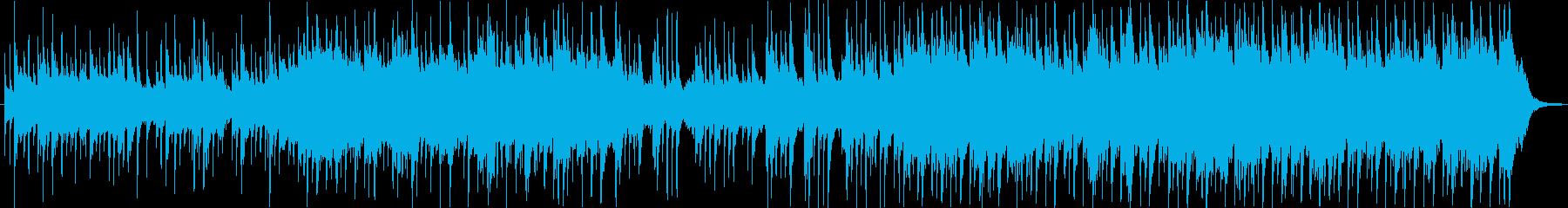 荘厳な和風BGMの再生済みの波形