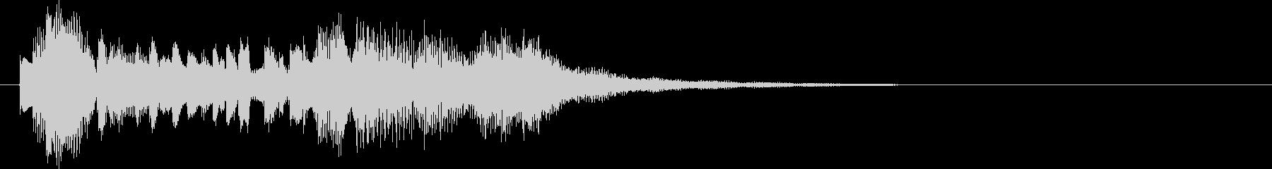 エレピの音でジャジーなジングル、ロゴの未再生の波形