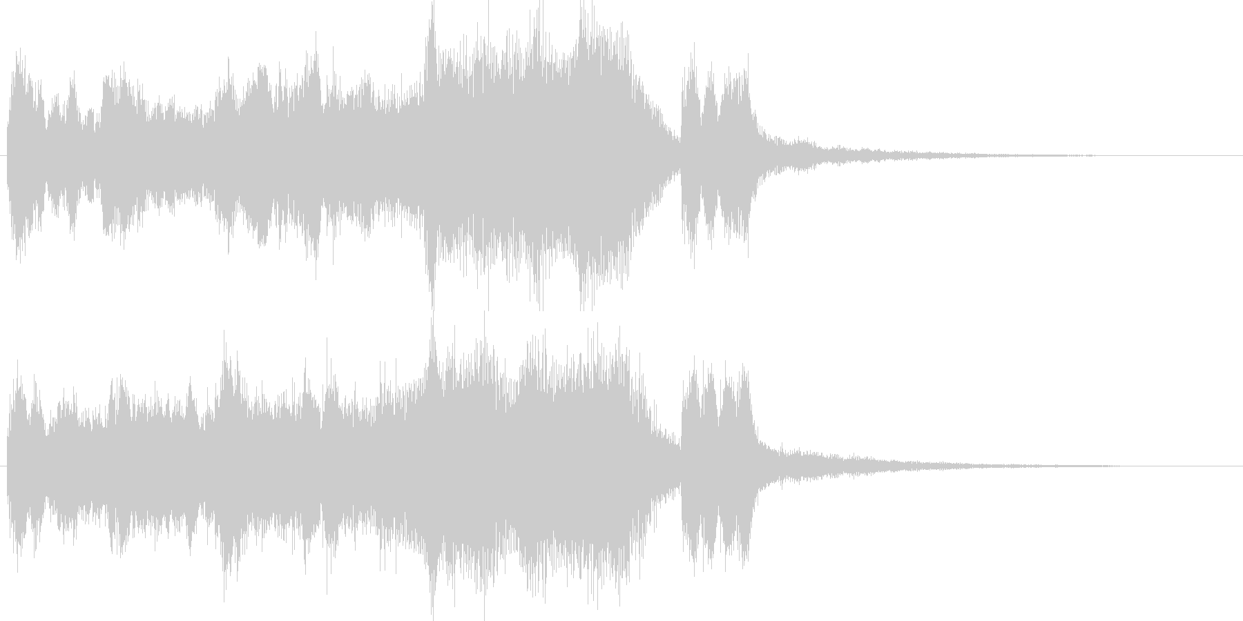 発表シリーズファンファーレ表彰式オルガンの未再生の波形